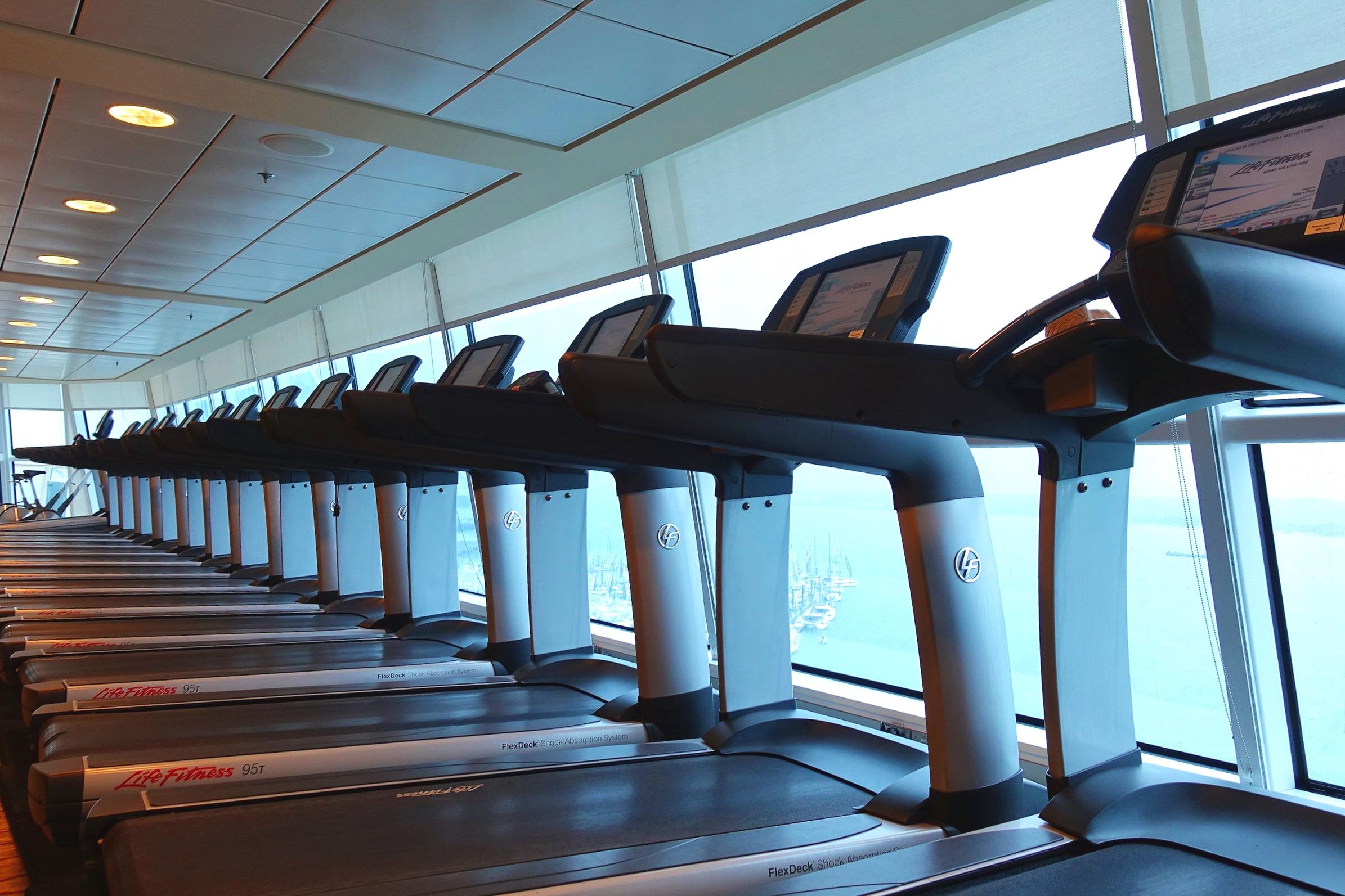 Plenty of treadmills.