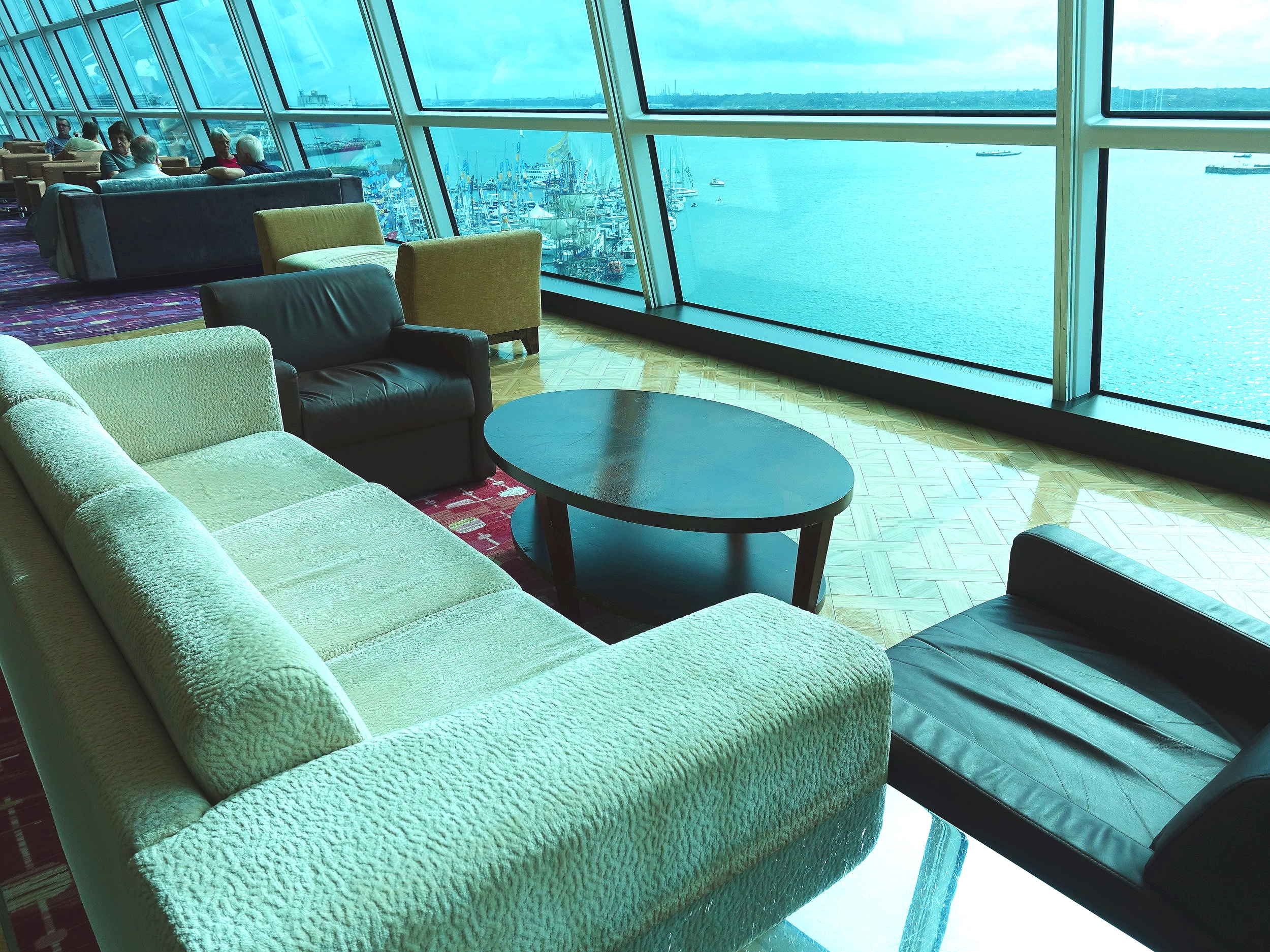 There's a range of seating in the Sky Lounge.