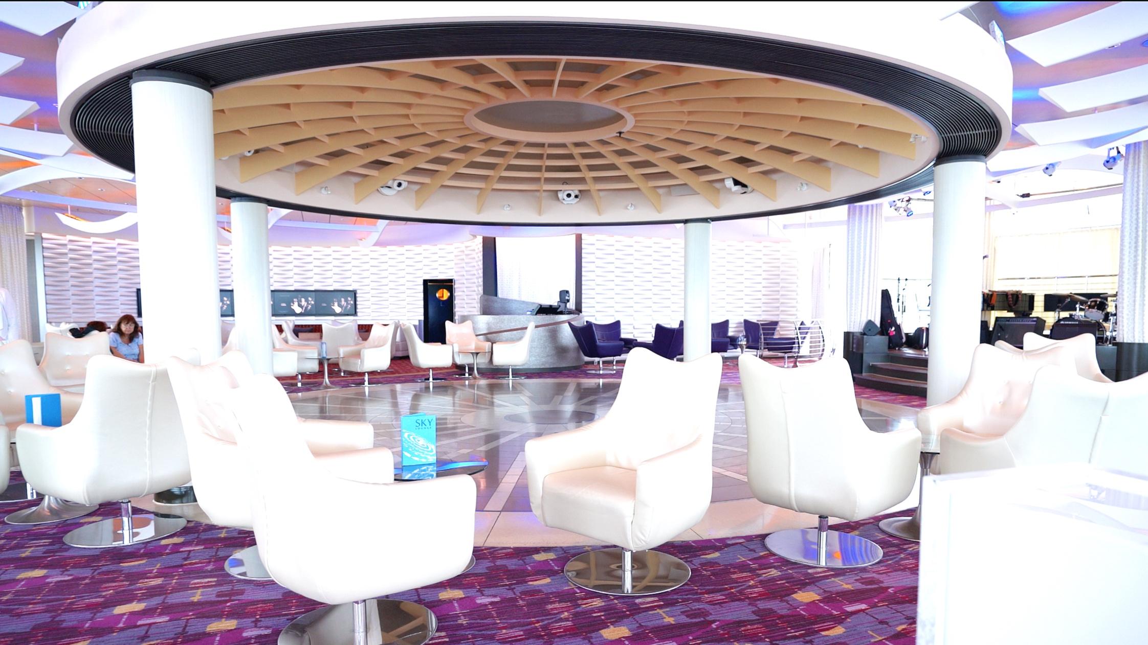 The Sky Lounge dance floor.