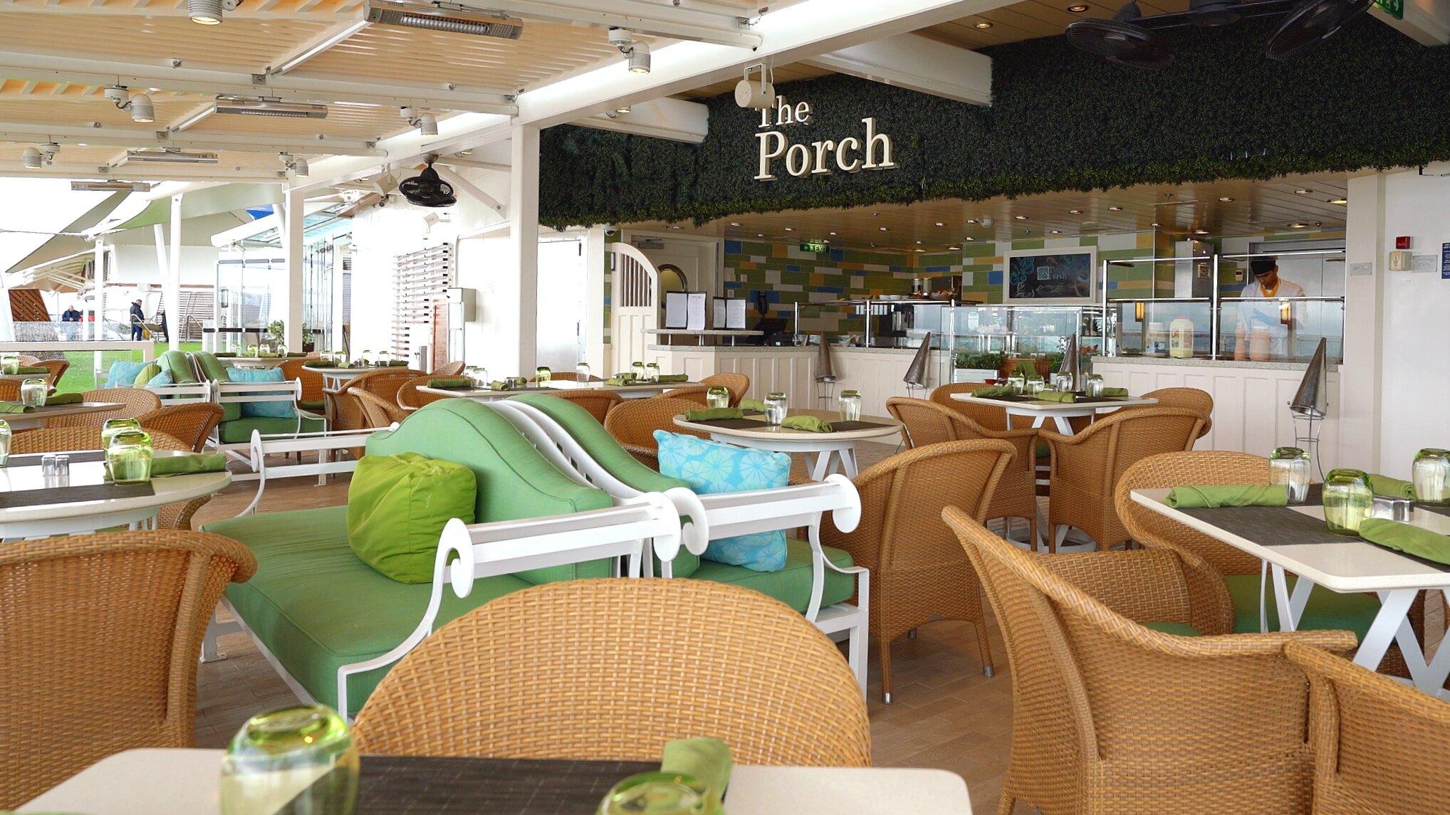 The Porch al fresco seafood restaurant.