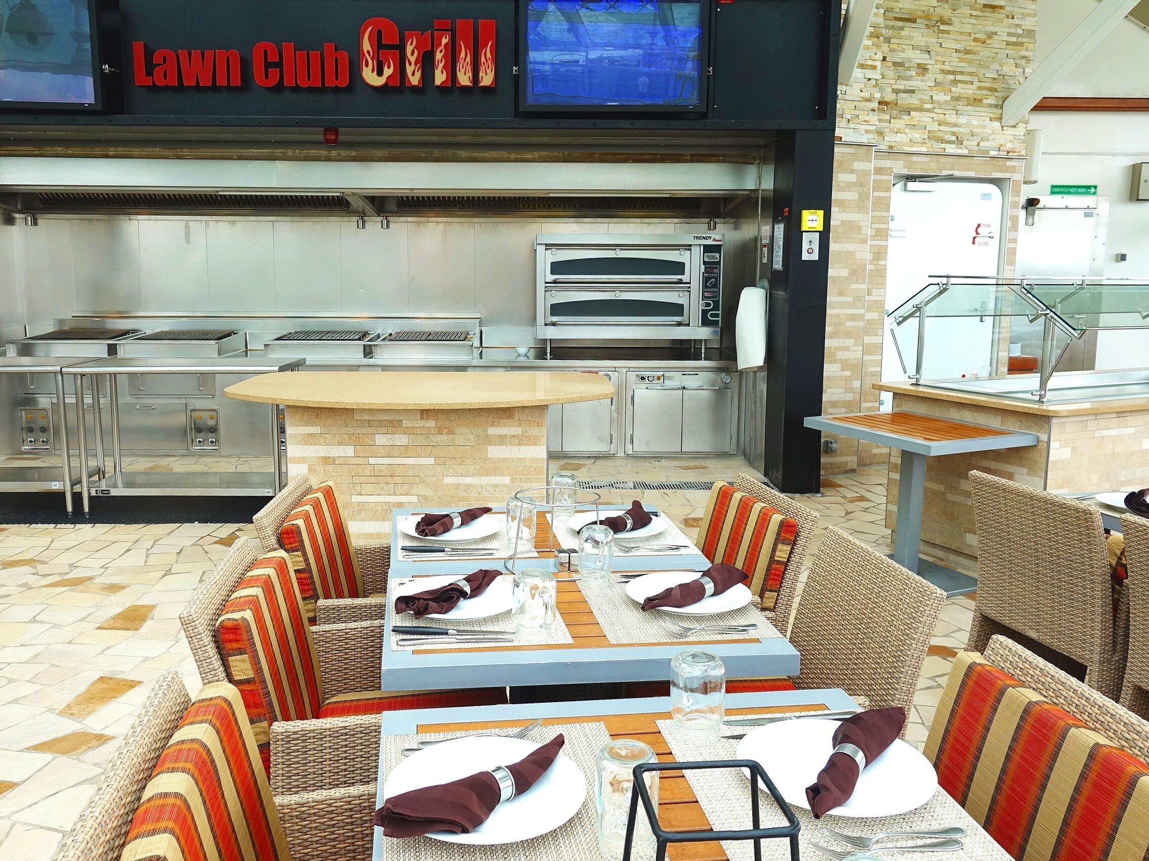 Inside the Lawn Club grill