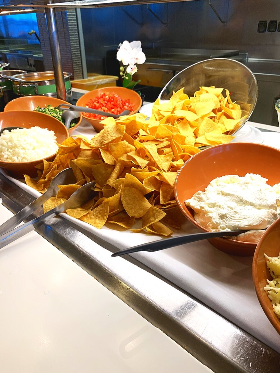 One of my favourites - the nacho station.