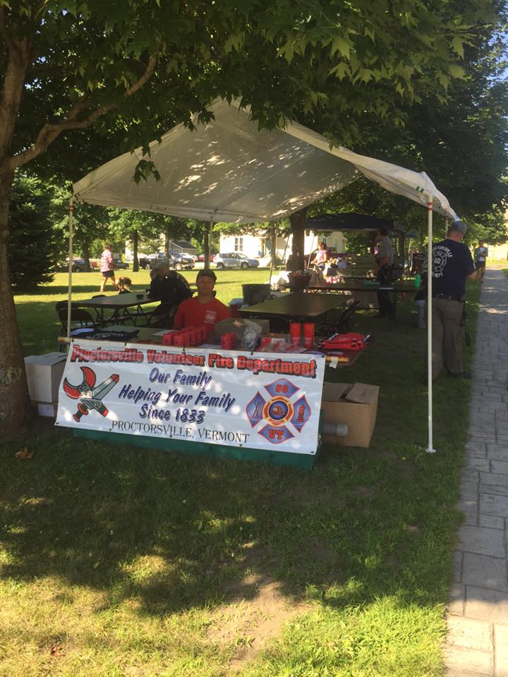 The Proctorsville Fire Department will once again have a BBQ on the Proctorsville Green as part of the Town Wide Tag Sale on July 30th.