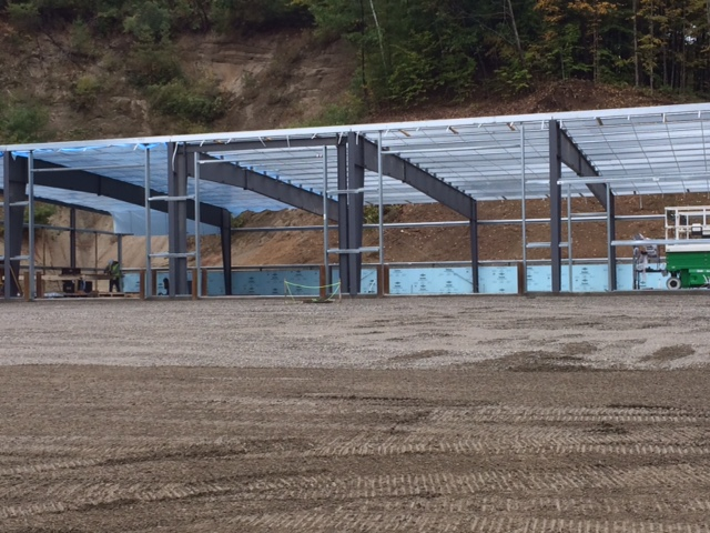 This week's photo of the Town Garage construction project.