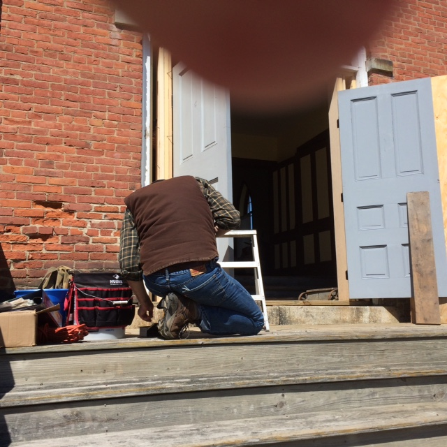 Spring is here and work is once again underway on the Museum's new doors. Thank you Dave Stern and Bob Naess.