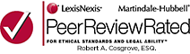 Robert A. Cosgrove, ESQ - Martindale-Hubbell Peer Review Rated