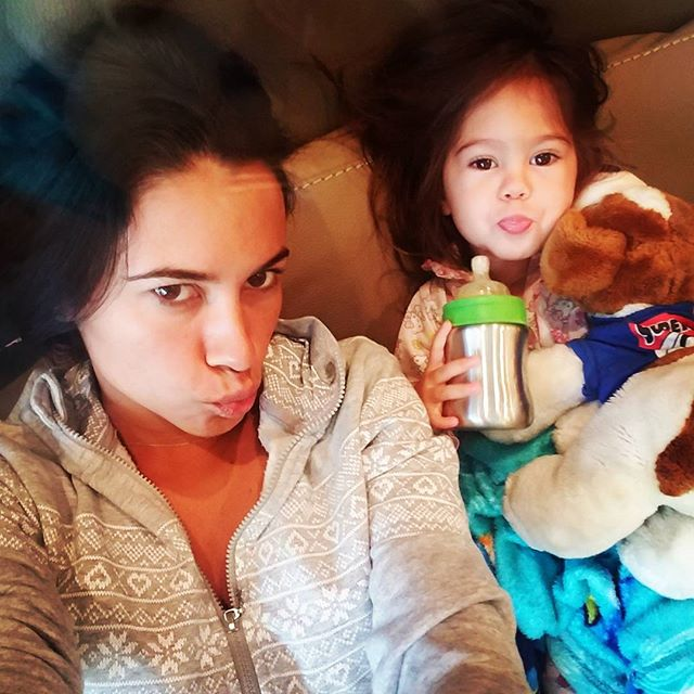 #pjs and #duckface kinda morning.... #BabyBella #mommyanddaughter