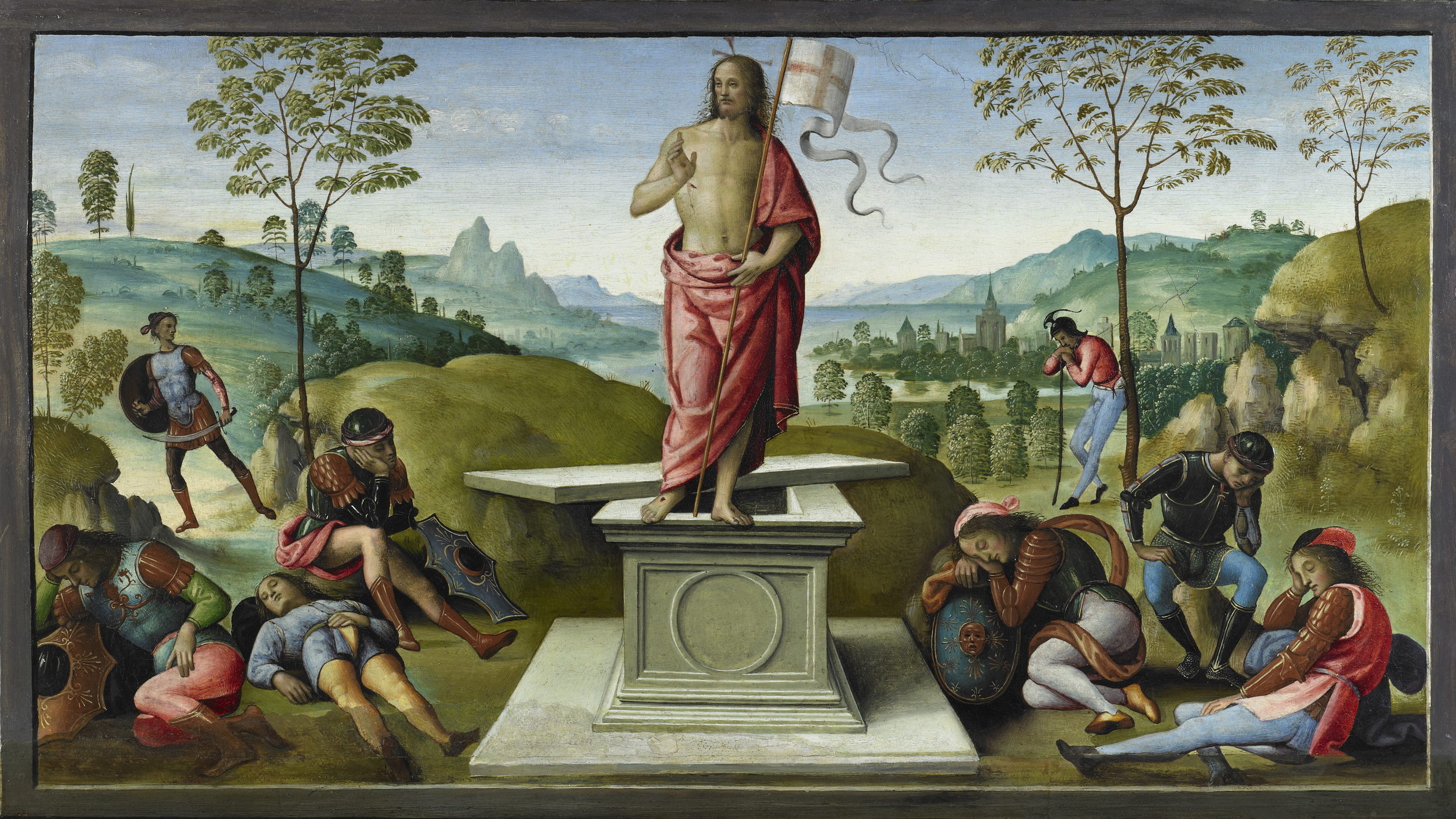 Le Pérugin,  La Résurrection,  Rouen, musée des Beaux-Arts (©) C. Lancien, C. Loisel, Musées de la ville de Rouen