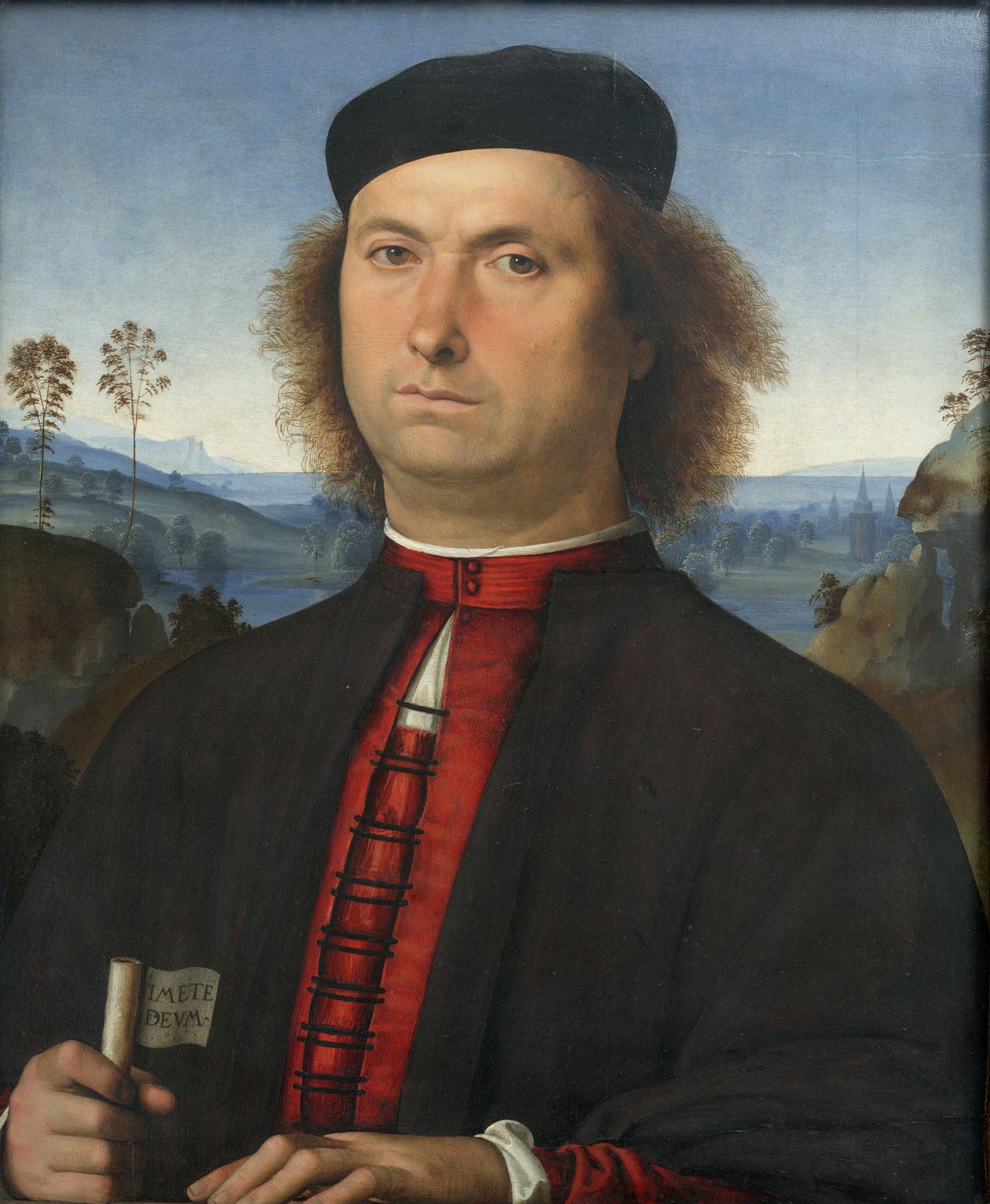 Le Pérugin,  Portrait de Francesco delle Opere  - Florence, Galerie des Offices