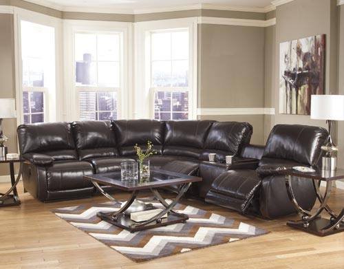 recliners and sofas inside of a living room