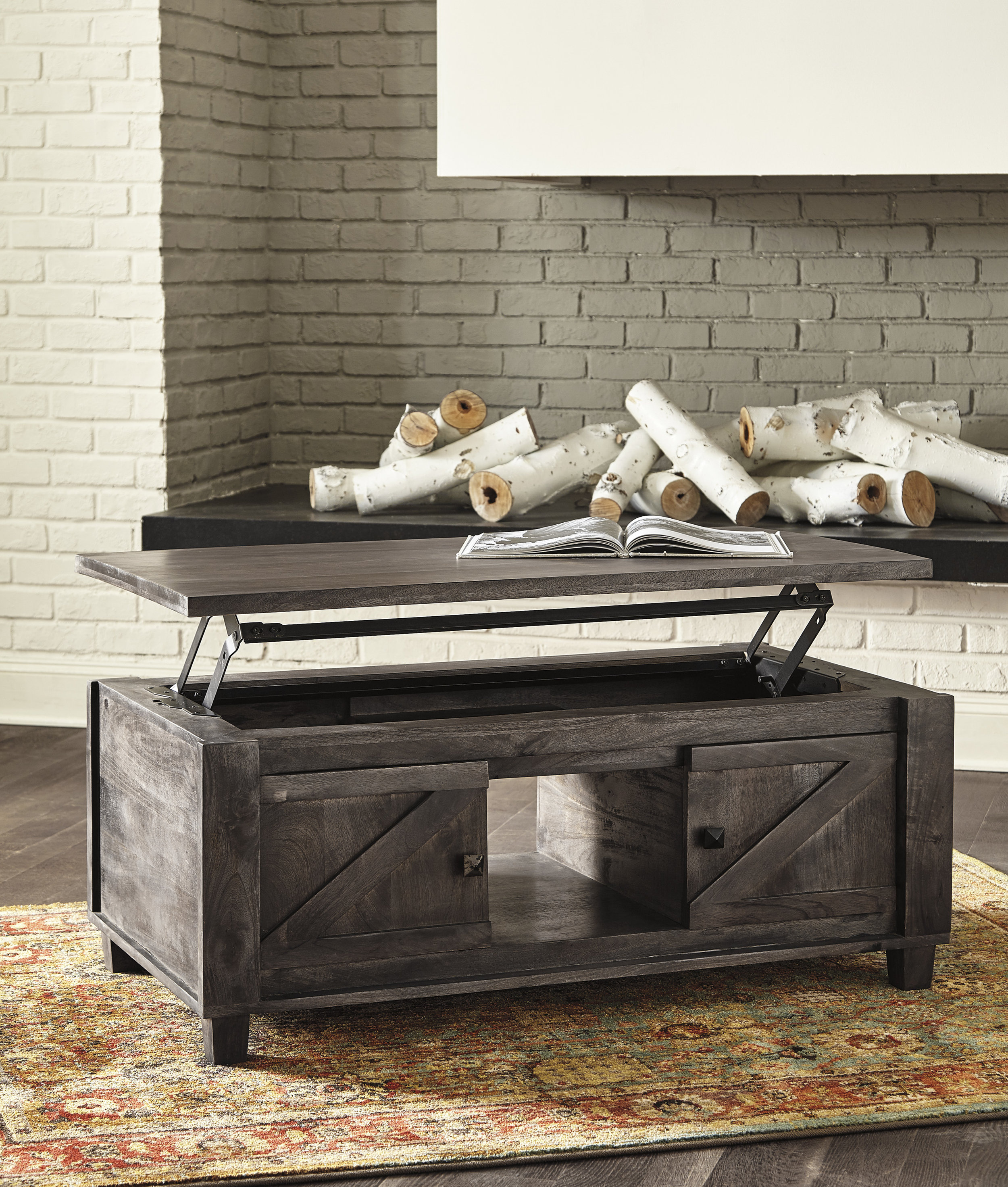 WAREHOUSE PRICE: $549.99 | MONTHLY PAYMENT $11 O.A.C LIFT TOP COCKTAIL TABLE