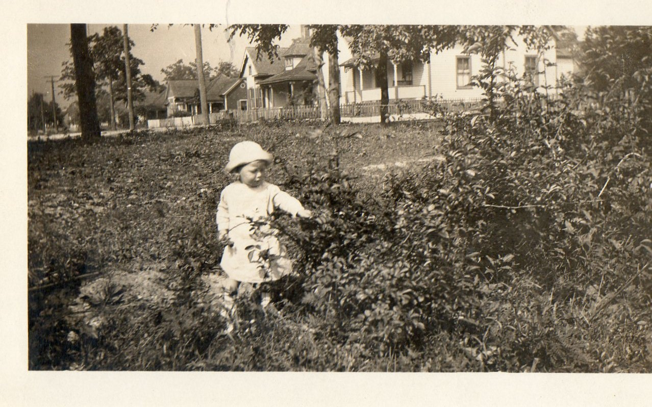 Young Carroll Hassell at home in Oakwood.