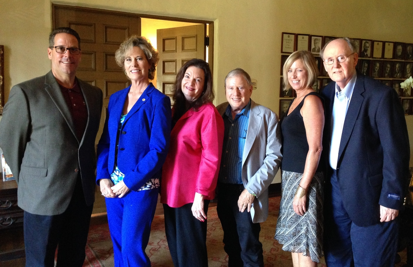 Steven M. Woodward (left), Annette Jorgensen, Jennifer Goddard Combs, Gary Kravetz, Trish Miller and Eldon R. Edwards. Not pictured: Michael O'Kelley and Denny Cooper.