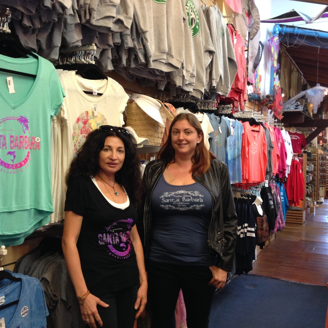 Inga Hartmann (left), owner of Old Wharf Trading Company, stands with the new store manager, Rina Mitchell.