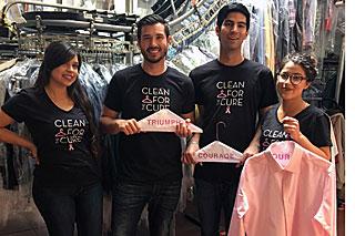Helping the Pink Hanger Program at Ablitt's, from left: Mari Vasquez, Sean Nguyen, Danny Arroyo and Ashley Gomez. (Ablitt's photo)