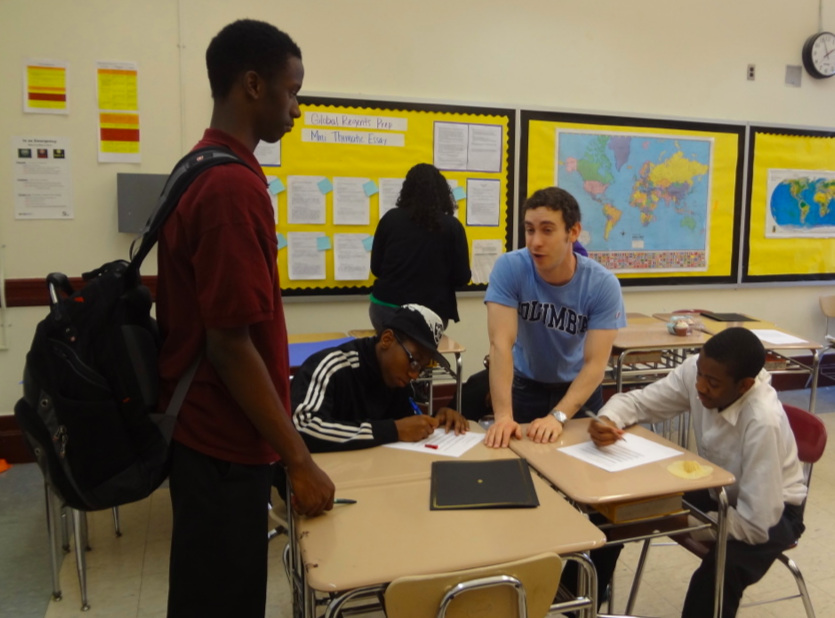 Working with young people in New York City, 2013.