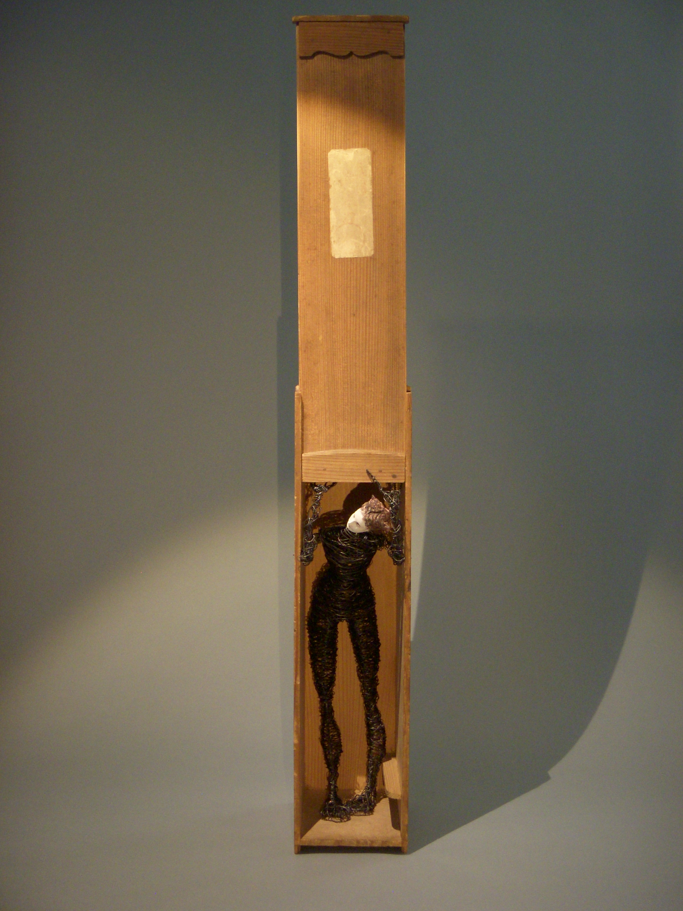 Standing Figure in Box with Sliding Lid