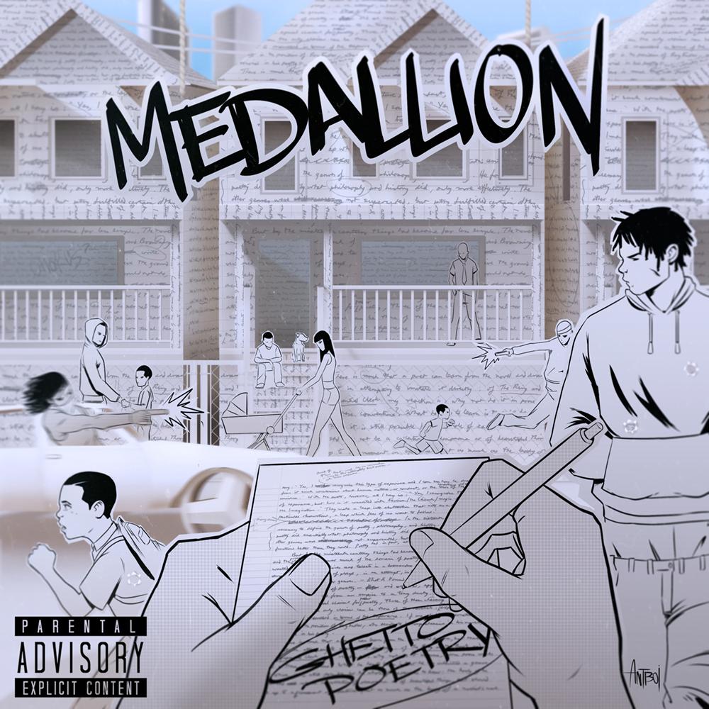 Medallion - 'Ghetto Poetry' Album Cover