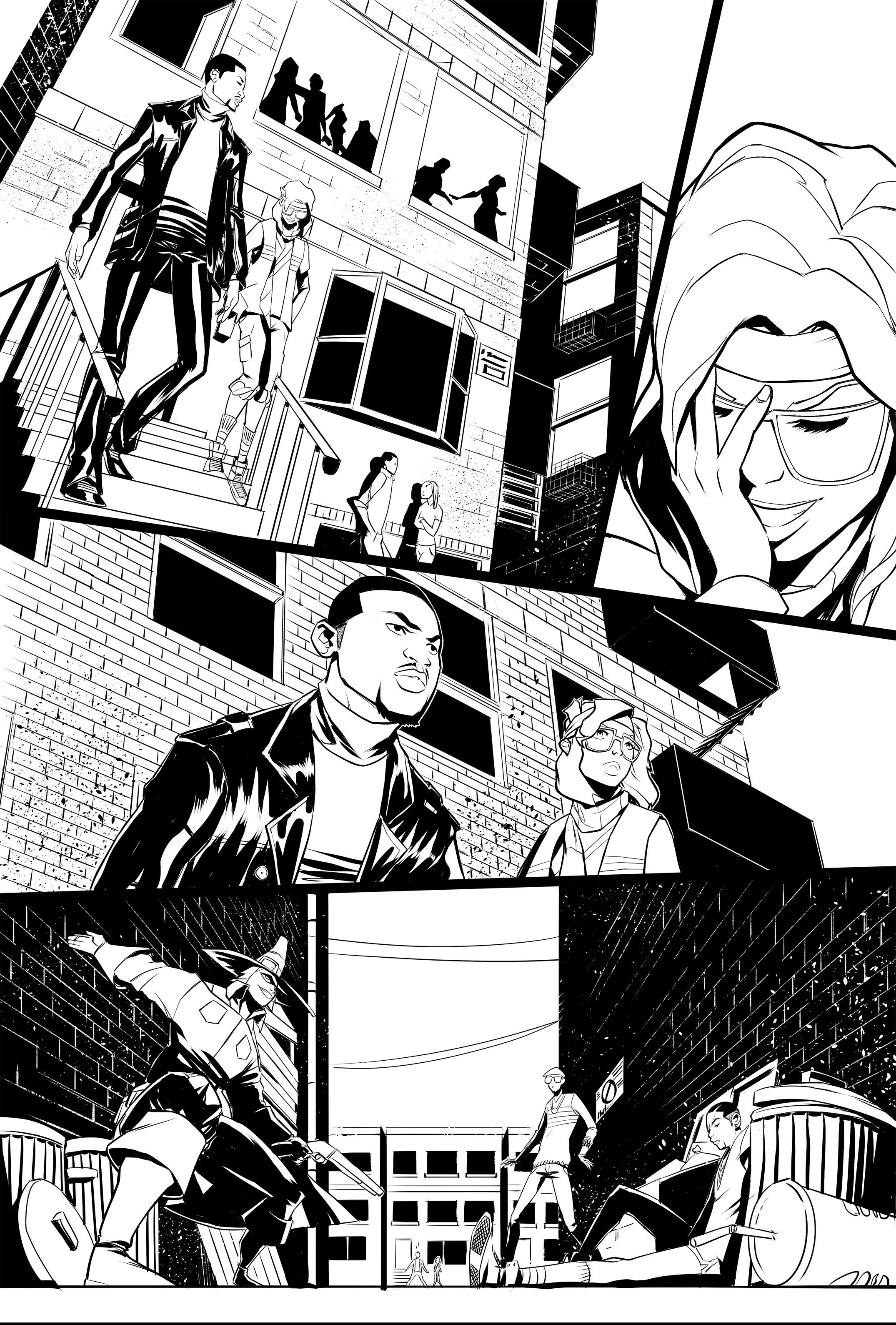 RUN DMC PAGE 1 (LINE ART)