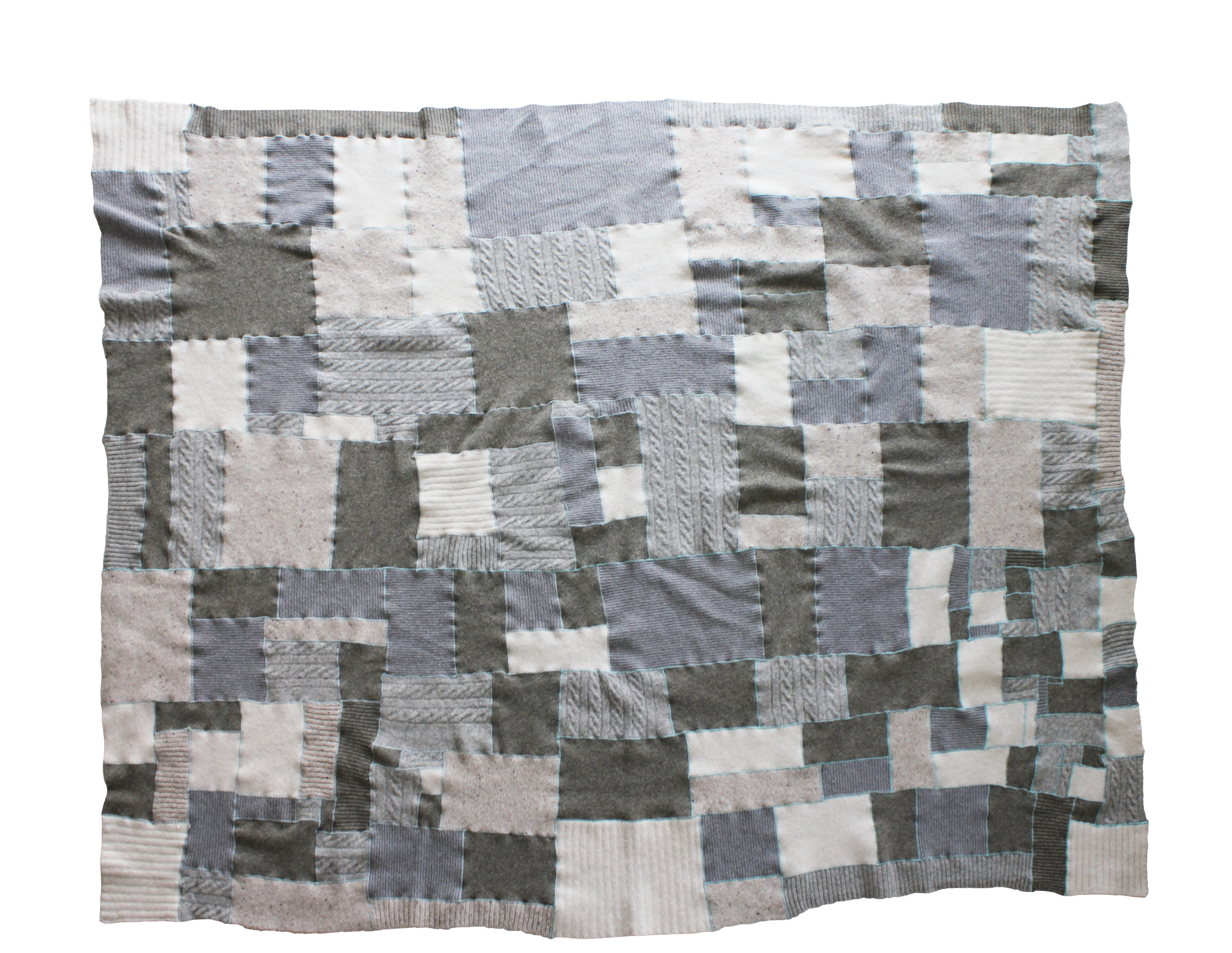 "no. 7, reclaimed wool, 2014, 78""x62"""