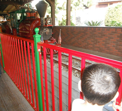 Castle Park Railroad - a 15 minute ride around the park