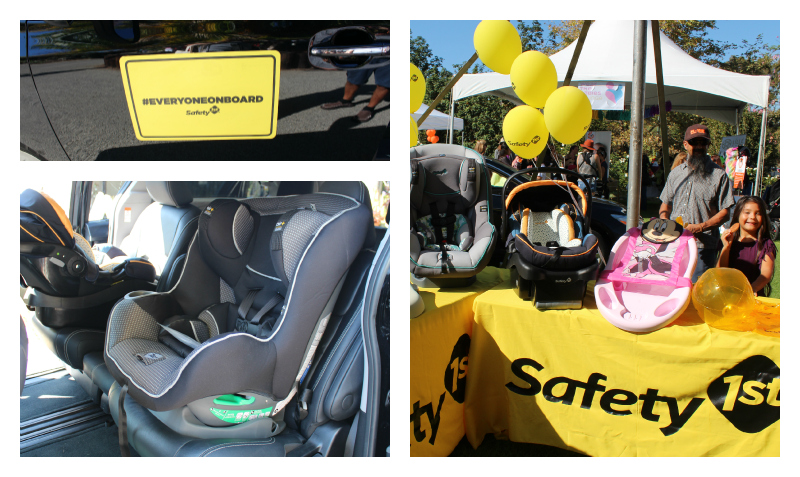 Safety 1st was demonstrating all their new and improved car seats and products.