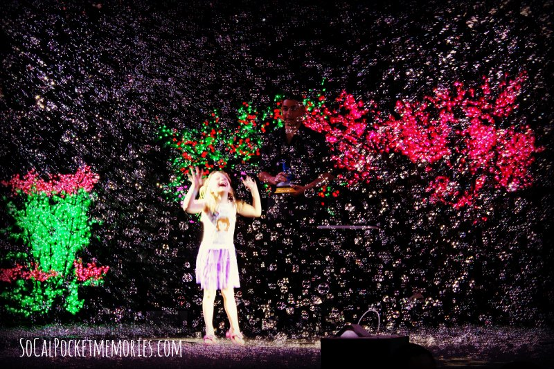 Millions of Bubbles surround you as you watch the show at Bubblefest Discovery Cube OC