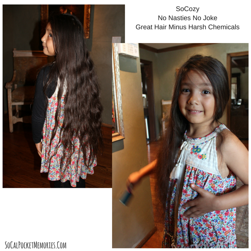 SoCozy works for my daughters  hair, she can even brush it out on her own when using the shampoo and conditioner + Leave In Detangler