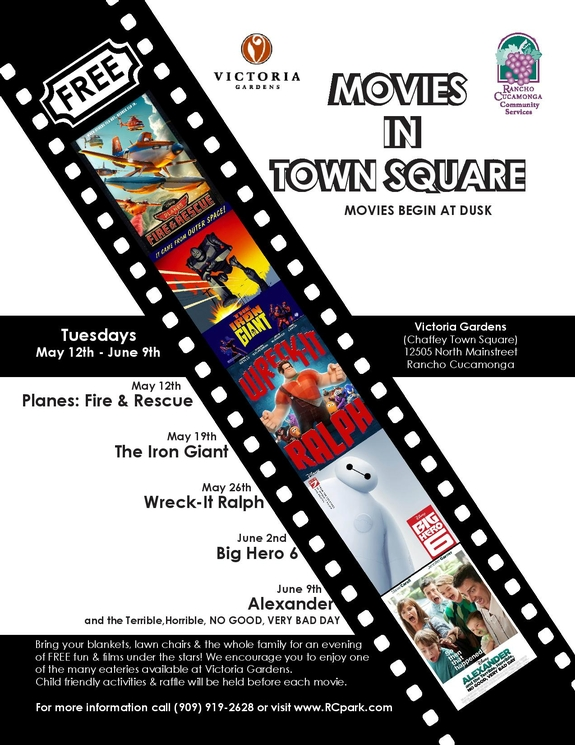 Victoria Gardens Movies in Town Square
