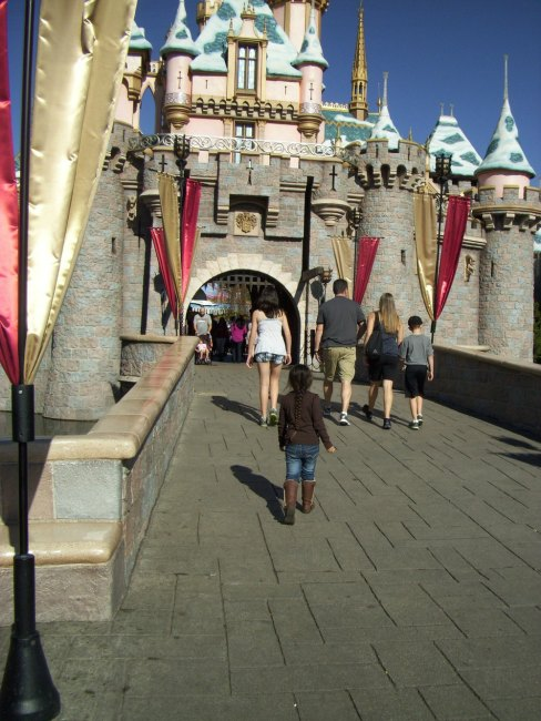It was a perfect day to visit the park.  Sleeping Beauty's Castle.                               Lead the way my Princess!