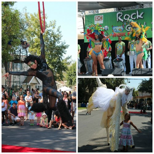 Acrobats, Street performers and Live Samba Music, just a few of the acts at Rock the Goats.