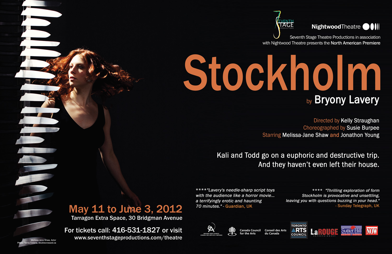 North American Premiere of  Stockholm |  Assistant Director to Kelly Straughan | Seventh Stage Productions