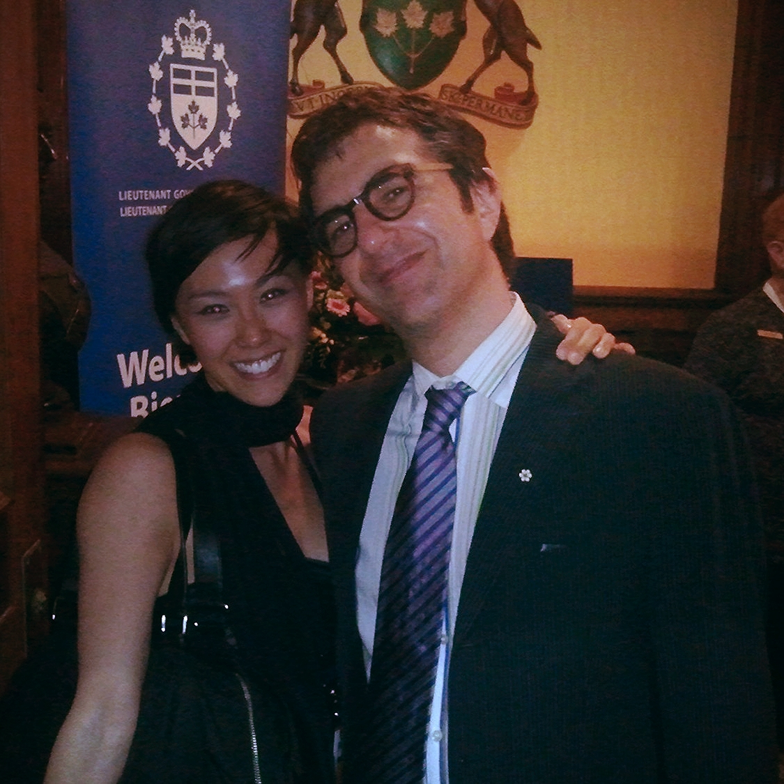 Celebrating the Canadian Premiere of  Feng Yi Ting  at Luminato with Director Atom Egoyan at the Lieutenant Governor's Residence in Toronto.