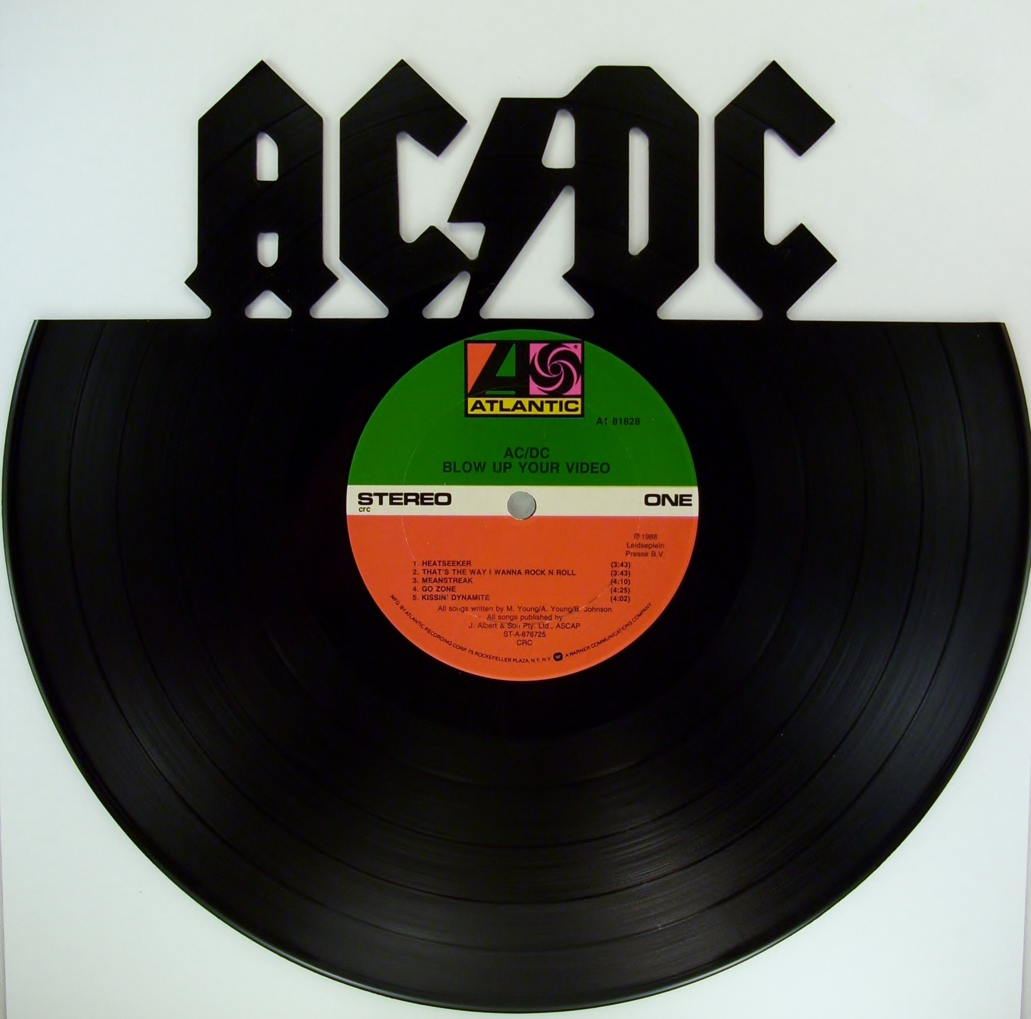 AC/DC Vinyl Record Wall Art