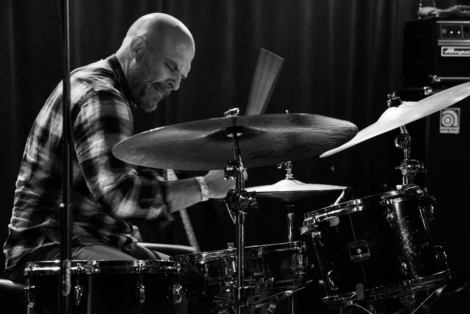Dave King on drums - Happy Apple at (Le) Poisson Rouge on Wednesday night, January 13.