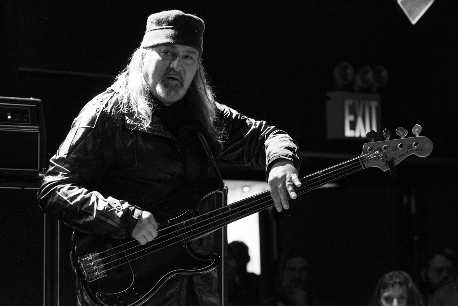 Bill Laswell on electric bass, performing at (Le) Poisson Rouge on Wednesday night, January 13.