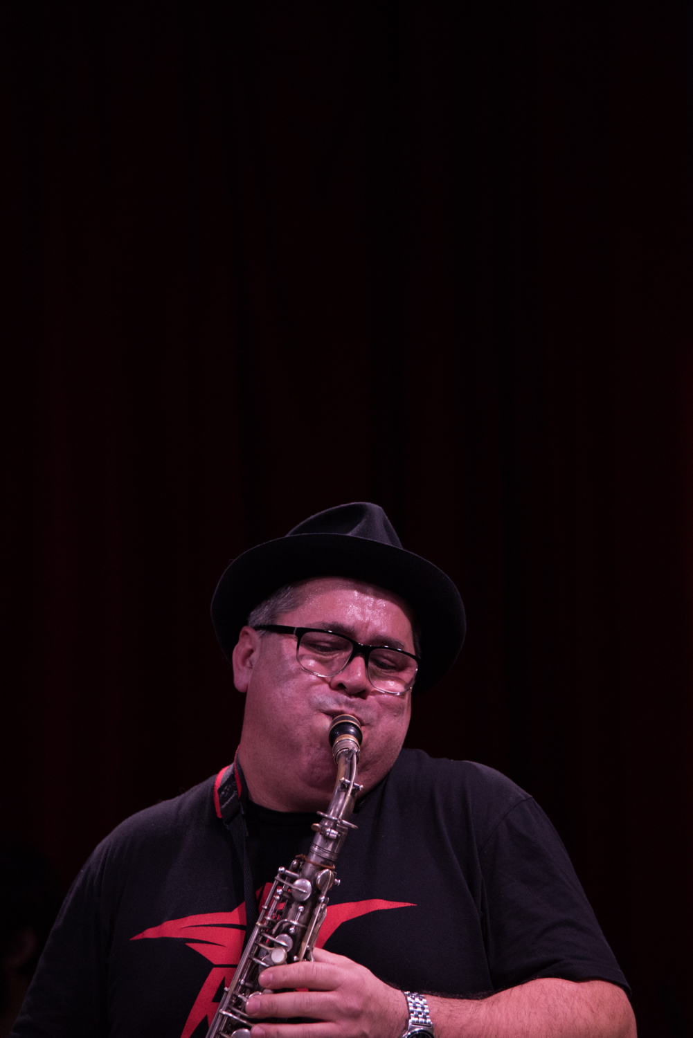 Oscar Noriega at the New School Jazz - Glass Box Theatre, January 15.