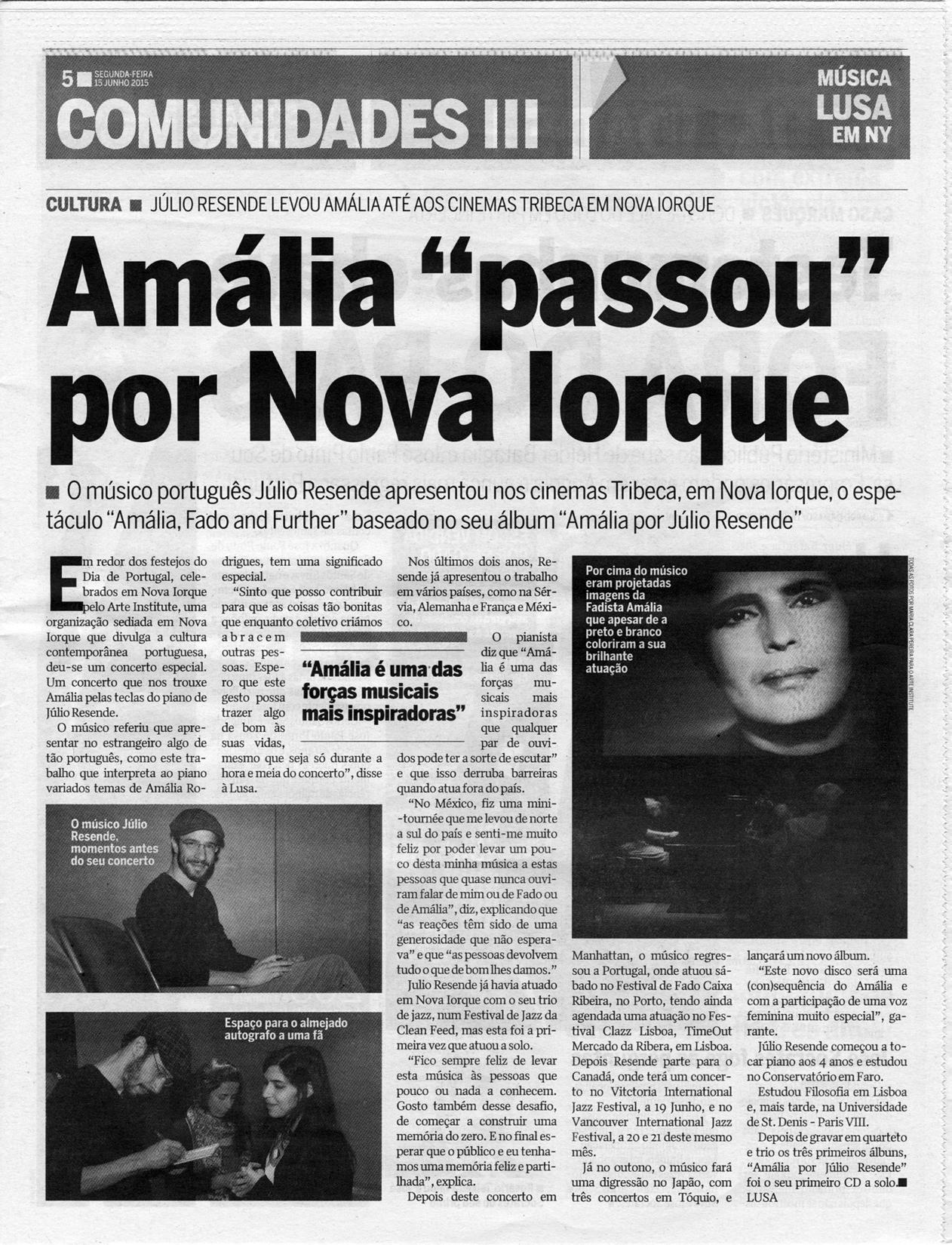24horas newspaper, 2015