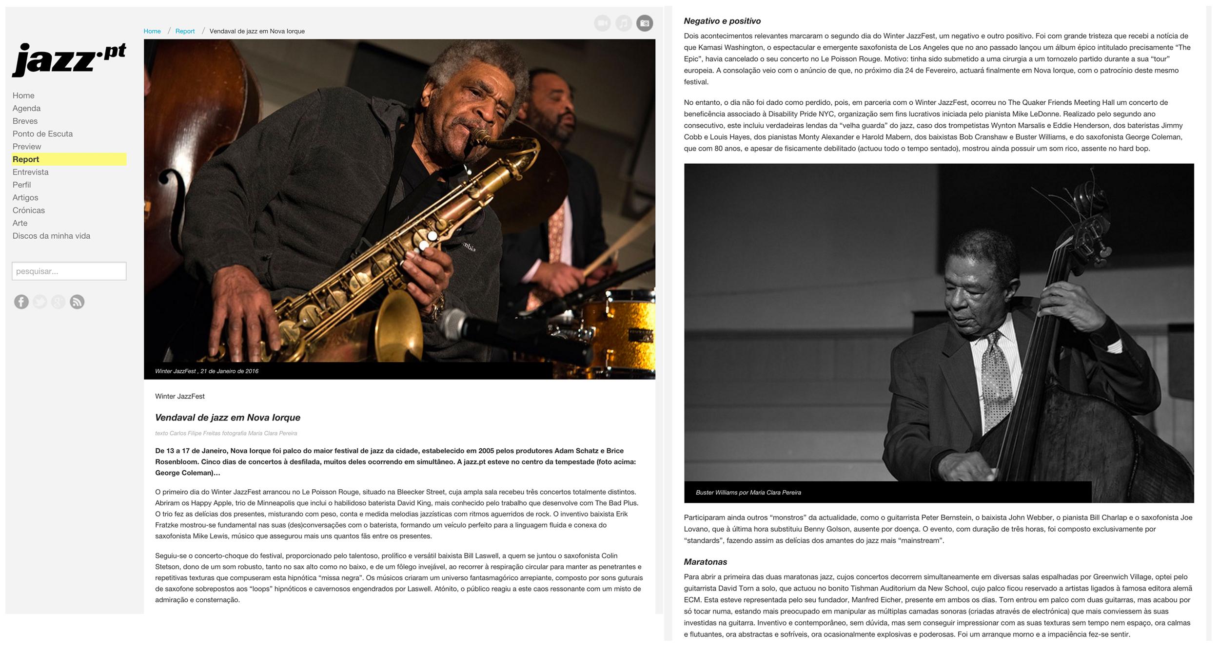 NYC Winter JazzFest - Jazz.pt, 2016