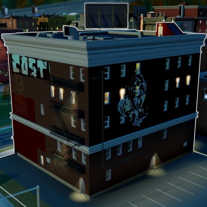 Sim City 5 Graffiti on a building indicates high crime (so do maps)