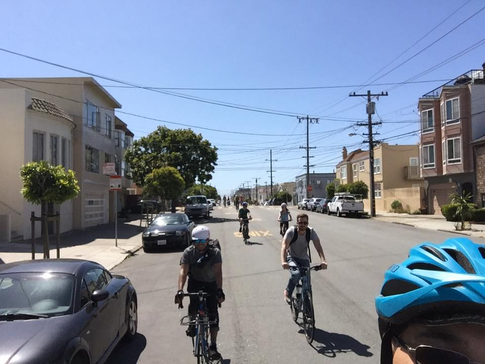 Rolling out from Sutro Heights. Photo by Kaveh
