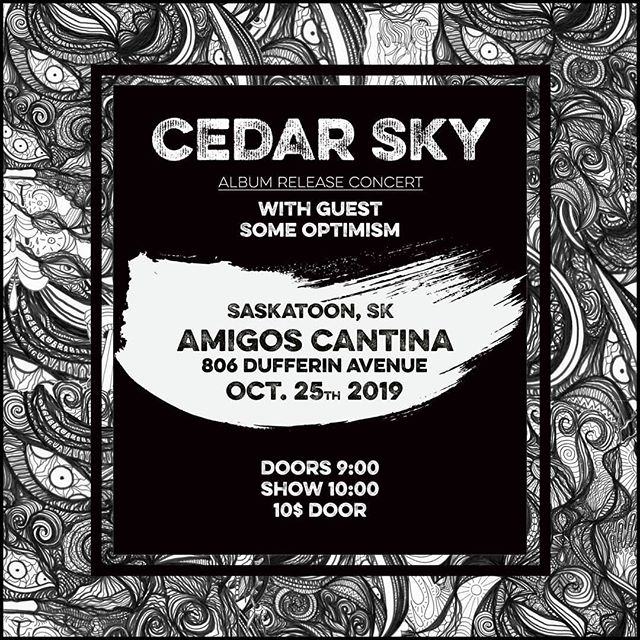 JUST ANNOUNCED we will be playing in Saskatoon at Amigos Cantina October 25 with Special Guests Some Optimism in support of our new album release!! see you there!! #yxe #Saskatoon #concert #livemusic #live #rockshow