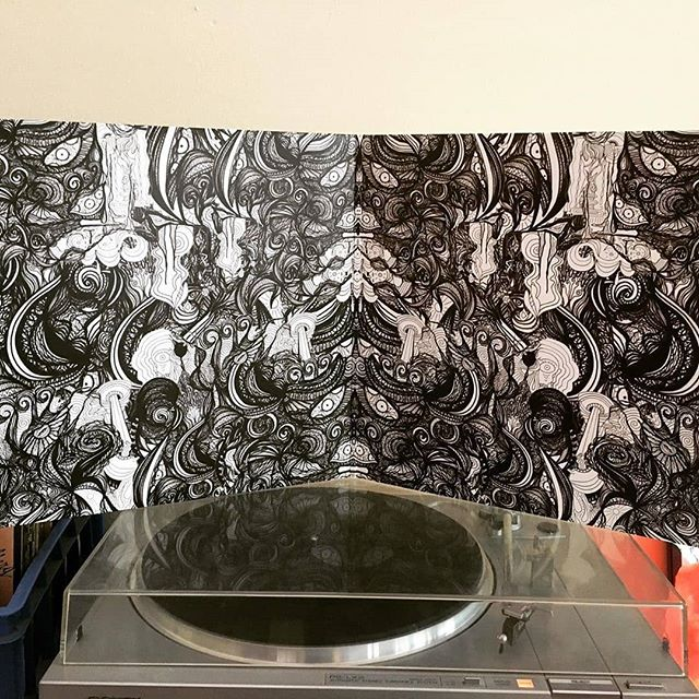 Repost from @chokerfriendly who did the album artwork on Crossing the Rubicon. Less than 2 weeks till this baby gets released to the public on October 17!! #newalbum #independent #art #YXE #newmusic #vinyl #psychedelic #psychedelicart #visionary
