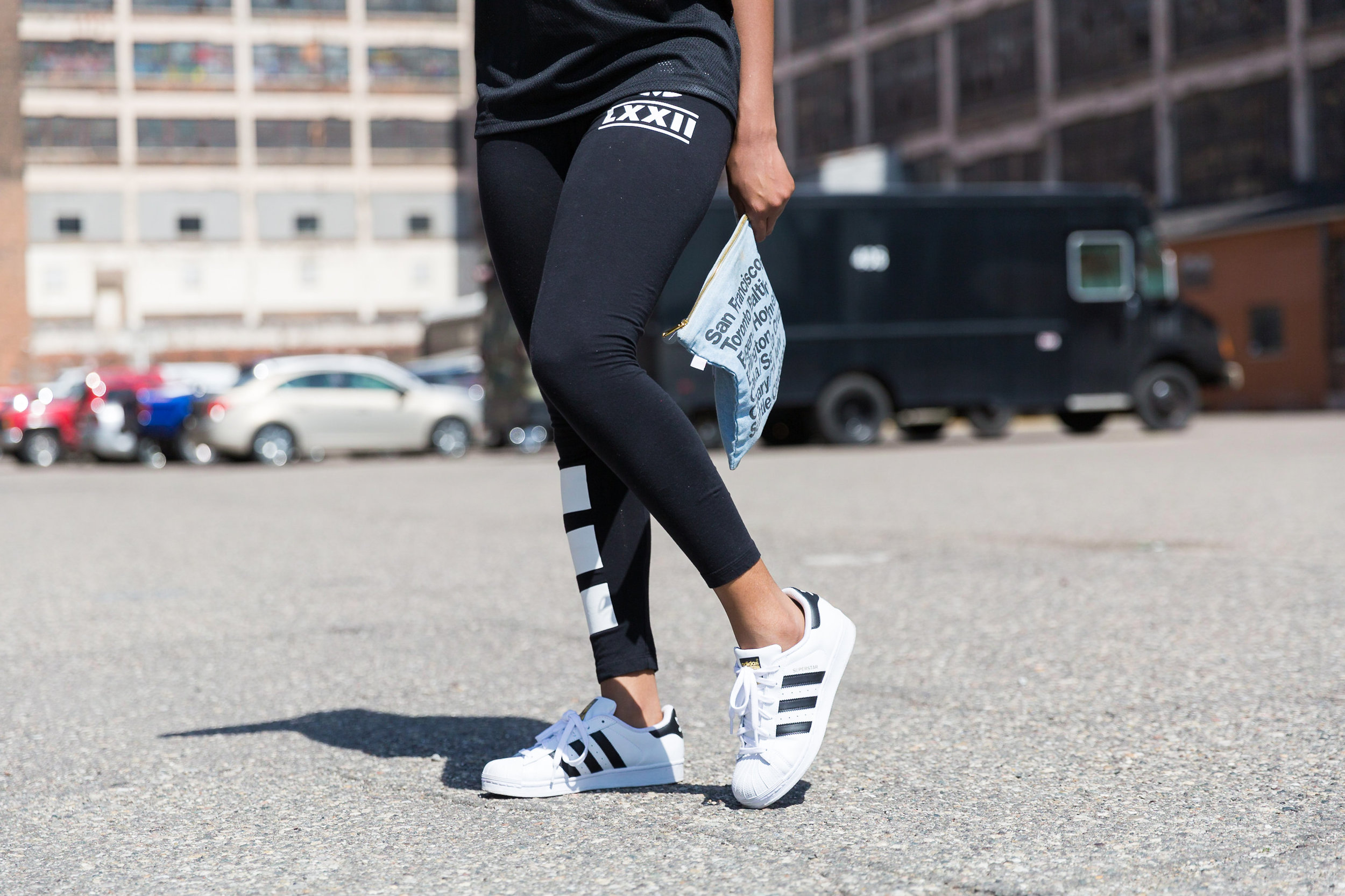 I had my eyes on the Adidas Superstar Shell Toe Shoes and when I received them as a gift, I had to find a dope outfit to go with it!