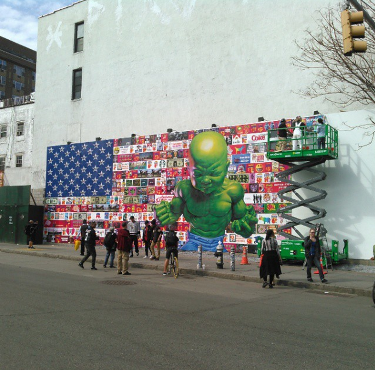 Example: Temper Tot mural by Ron English in Manhattan