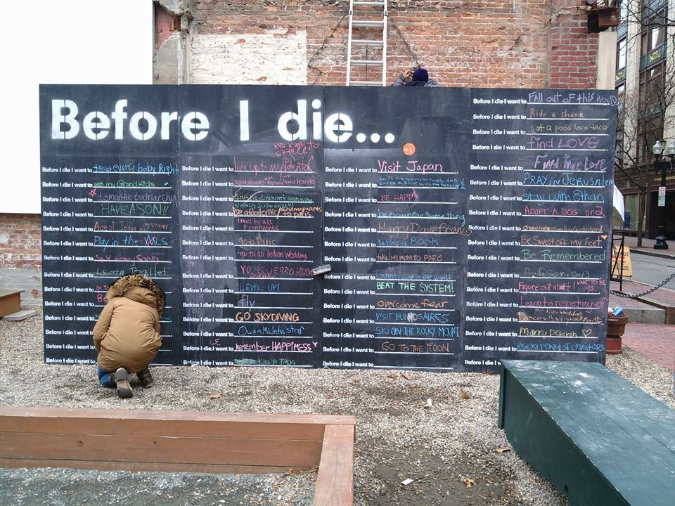 Example: Before I Die by Candy Chang