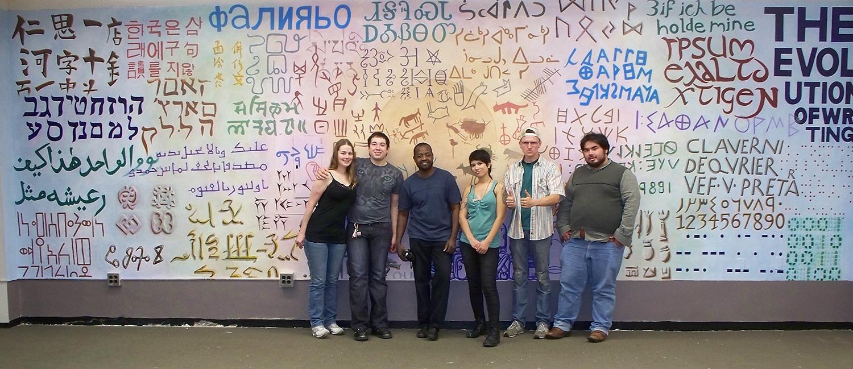 Evolution of Writing mural team