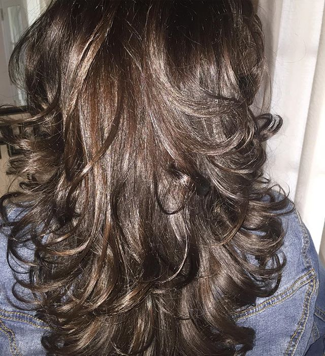 Gorgeous color and cut by Albert! #longhair #curls #color #haircut #blowdry #americansalon #hairbyal #woodlandhills #hairconcept2000