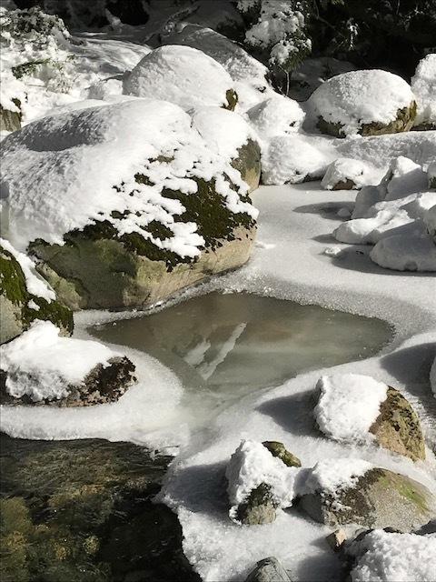 """Snow Buddhas"" by David Turner."