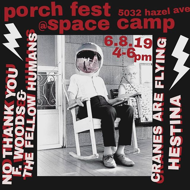 We'll be in West serenading you babes for Porch Fest this Saturday 6.8 🦋 4-6pm ! with @xnothankyoux , @fwoodsmusic , and @cranes_are_flying We go on at 4pm sharp! Come thru! Bring your mom!